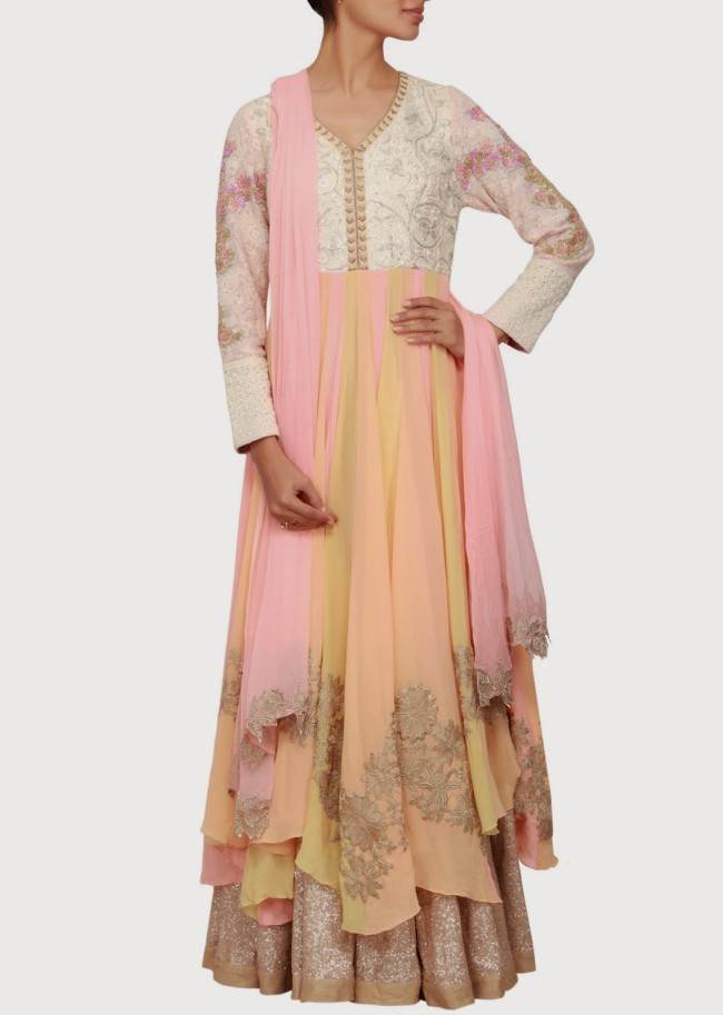 Engagement Wear Lehanga-Choli and Sharara Collection by New Fashion Dress Designer Kalkifashion-9