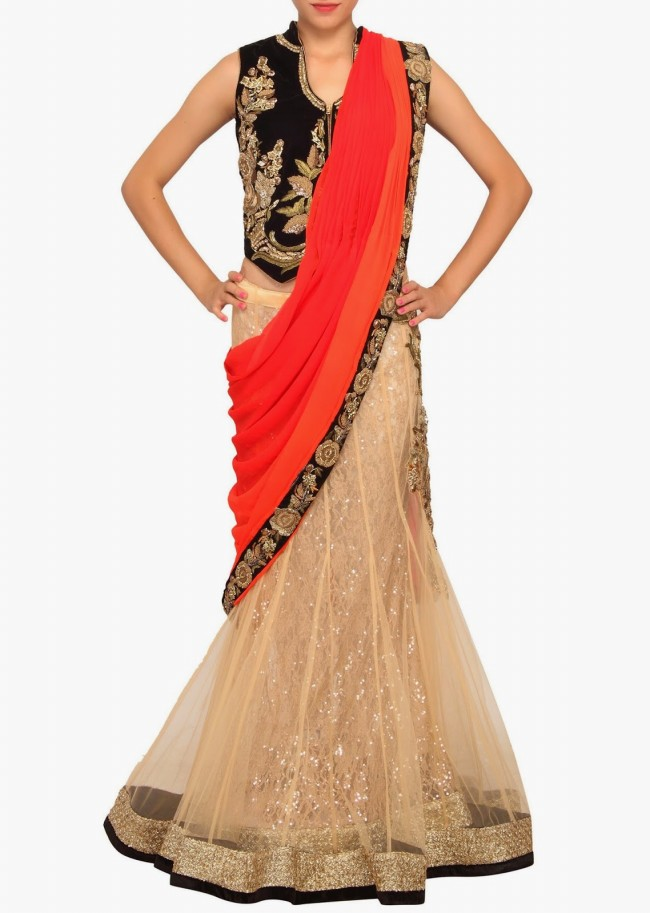 Engagement Wear Lehanga-Choli and Sharara Collection by New Fashion Dress Designer Kalkifashion-