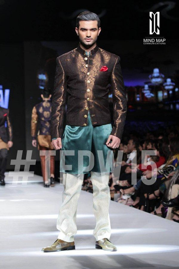 Fashion Dress Designer Aamir Adnan Stylish Wedding Groom Suits Pent-Coat-Kurta-Sherwani for Men by TFPW-4