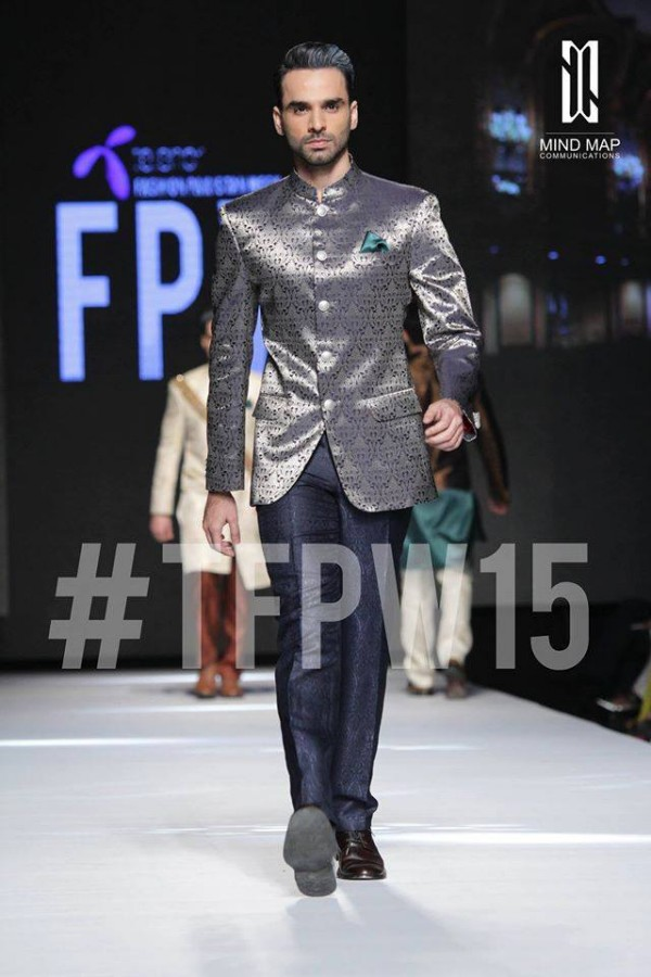 Fashion Dress Designer Aamir Adnan Stylish Wedding Groom Suits Pent-Coat-Kurta-Sherwani for Men by TFPW-5