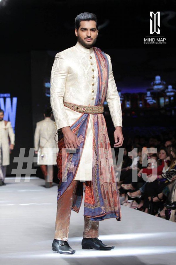 Fashion Dress Designer Aamir Adnan Stylish Wedding Groom Suits Pent-Coat-Kurta-Sherwani for Men by TFPW-7