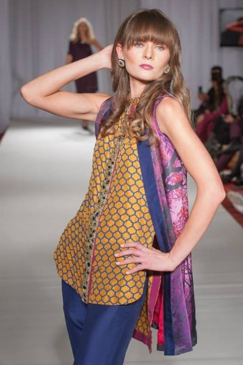 Gul Ahmed London Fashion Week 5 Western Dresses-7