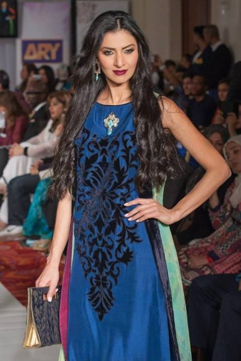 Gul Ahmed London Fashion Week 5 Western Dresses-8