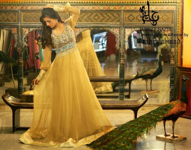 Most Beautiful Embroidered Costumes Eid Dress For Women-Girls By Jannat Nazir-2