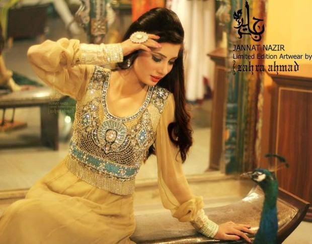 Most Beautiful Embroidered Costumes Eid Dress For Women-Girls By Jannat Nazir-6