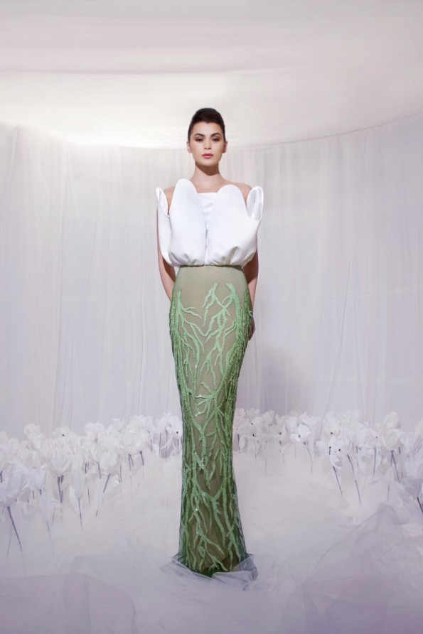 Tarek Sinno New Latest Long-Short Skirt Fashion Wear Dress For Girls-Women-6