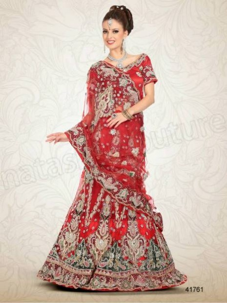 Wedding-Bridal Wear Lehenga-Sharara and Choli Design New Fashion for Brides-Dulhan-1