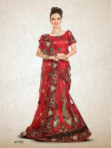 Wedding-Bridal Wear Lehenga-Sharara and Choli Design New Fashion for Brides-Dulhan-10