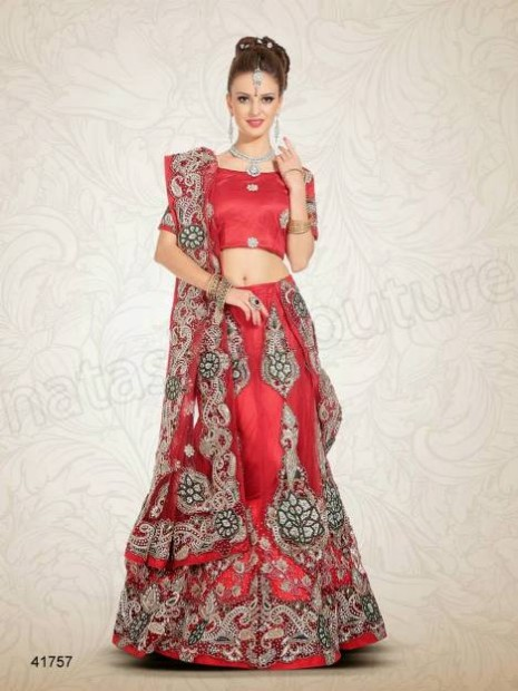 Wedding-Bridal Wear Lehenga-Sharara and Choli Design New Fashion for Brides-Dulhan-11