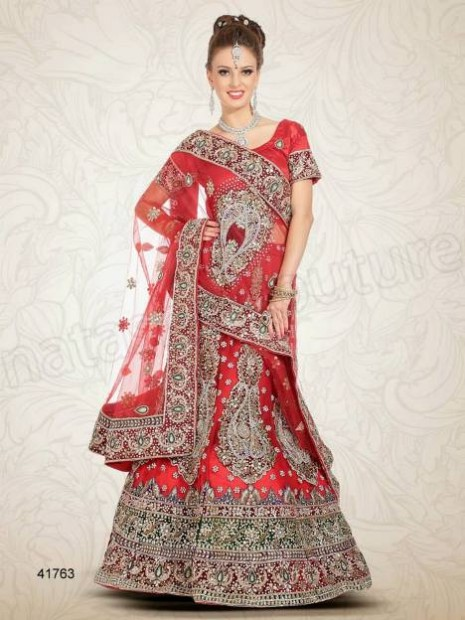 Wedding-Bridal Wear Lehenga-Sharara and Choli Design New Fashion for Brides-Dulhan-12