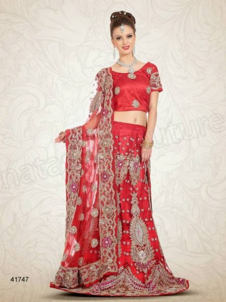 Wedding-Bridal Wear Lehenga-Sharara and Choli Design New Fashion for Brides-Dulhan-2
