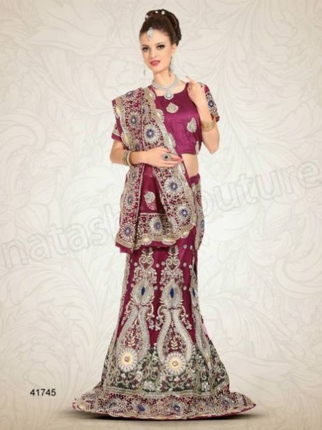 Wedding-Bridal Wear Lehenga-Sharara and Choli Design New Fashion for Brides-Dulhan-3