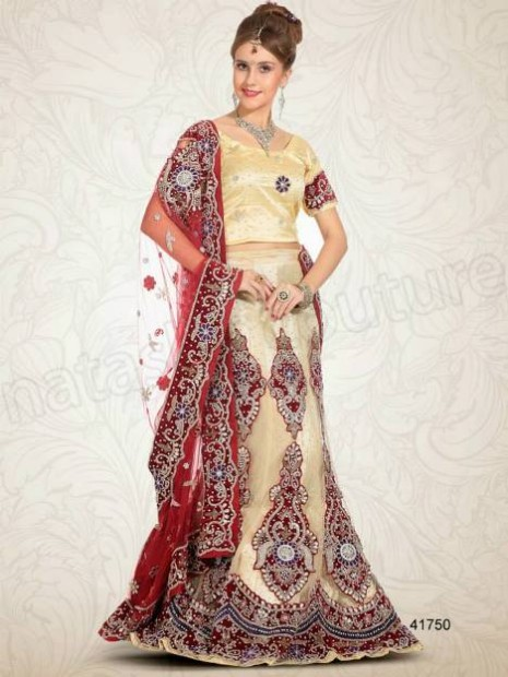 Wedding-Bridal Wear Lehenga-Sharara and Choli Design New Fashion for Brides-Dulhan-4