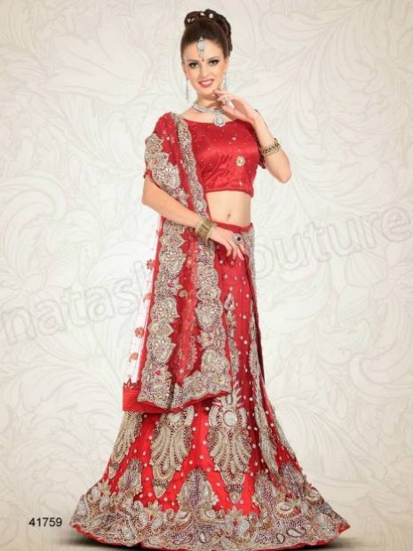 Wedding-Bridal Wear Lehenga-Sharara and Choli Design New Fashion for Brides-Dulhan-5