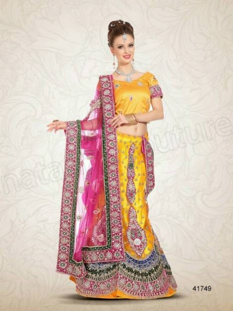 Wedding-Bridal Wear Lehenga-Sharara and Choli Design New Fashion for Brides-Dulhan-7