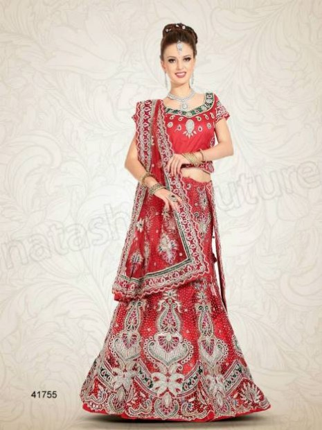 Wedding-Bridal Wear Lehenga-Sharara and Choli Design New Fashion for Brides-Dulhan-8