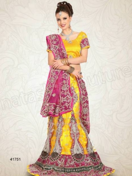 Wedding-Bridal Wear Lehenga-Sharara and Choli Design New Fashion for Brides-Dulhan-9