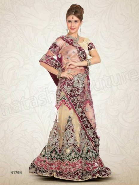 Wedding-Bridal Wear Lehenga-Sharara and Choli Design New Fashion for Brides-Dulhan-
