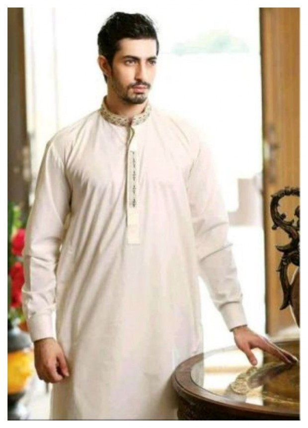 AA Ali Fabric Men's Wear Cotton Shalwar Kameez Dress Design New Fashion Suits-10
