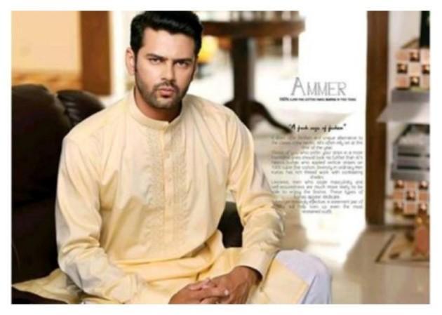 AA Ali Fabric Men's Wear Cotton Shalwar Kameez Dress Design New Fashion Suits-3