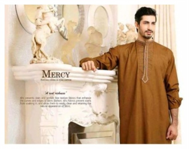 AA Ali Fabric Men's Wear Cotton Shalwar Kameez Dress Design New Fashion Suits-4