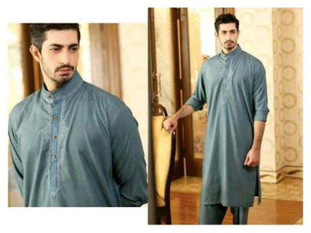 AA Ali Fabric Men's Wear Cotton Shalwar Kameez Dress Design New Fashion Suits-5