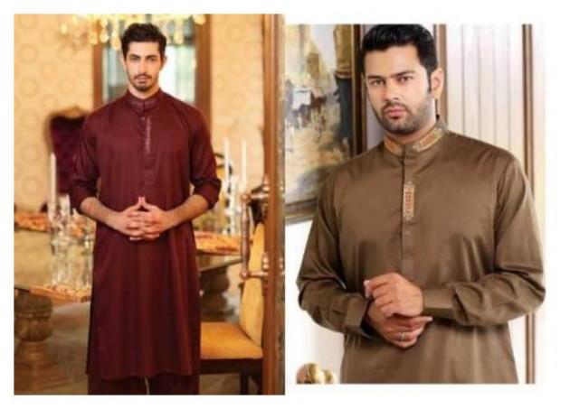 AA Ali Fabric Men's Wear Cotton Shalwar Kameez Dress Design New Fashion Suits-8