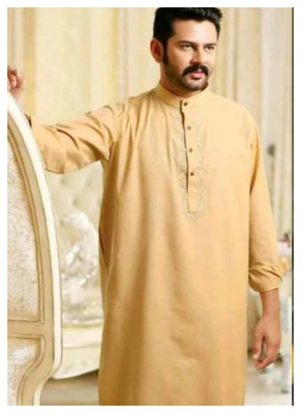 AA Ali Fabric Men's Wear Cotton Shalwar Kameez Dress Design New Fashion Suits-9