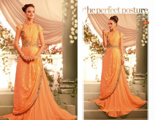 Beautiful Bridesmaid Drapes Maxi Gowns Catalog for Wedding-Bridal,Brides Wear Suits-10