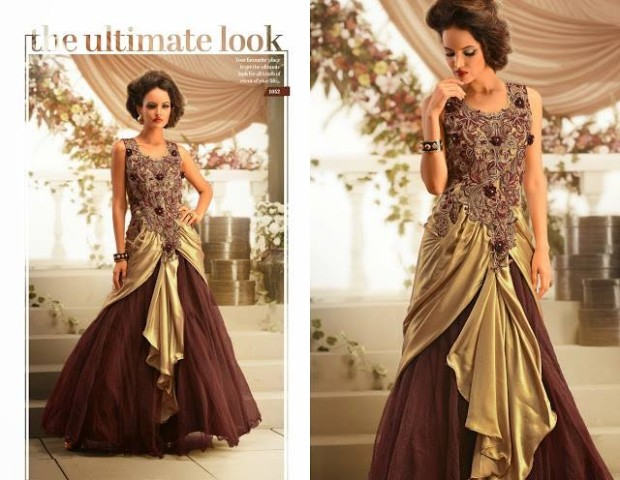 Beautiful Bridesmaid Drapes Maxi Gowns Catalog for Wedding-Bridal,Brides Wear Suits-3