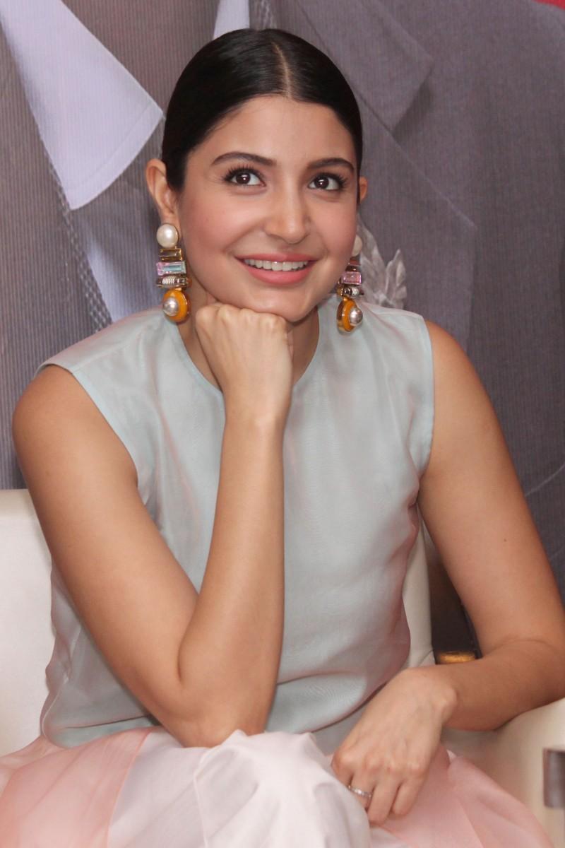 Wallpaper Anushka Sharma snapped biting nails at the Promotions of