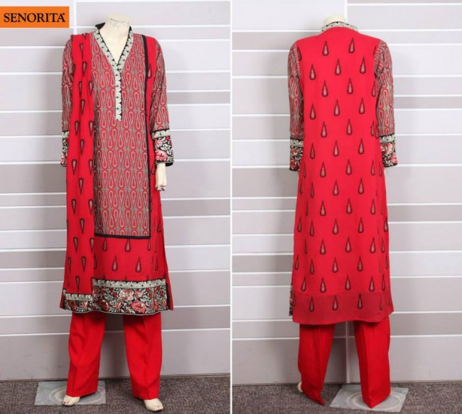 Senorita Summer Ready to Beautiful Girls Wear Shalwar Kameez New Fashion Suits-1