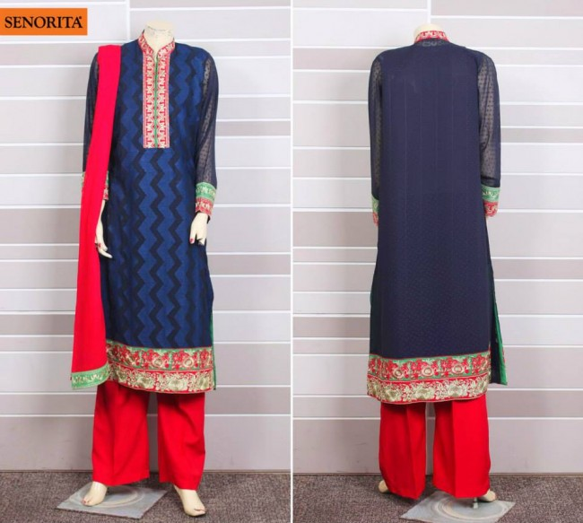 Senorita Summer Ready to Beautiful Girls Wear Shalwar Kameez New Fashion Suits-2