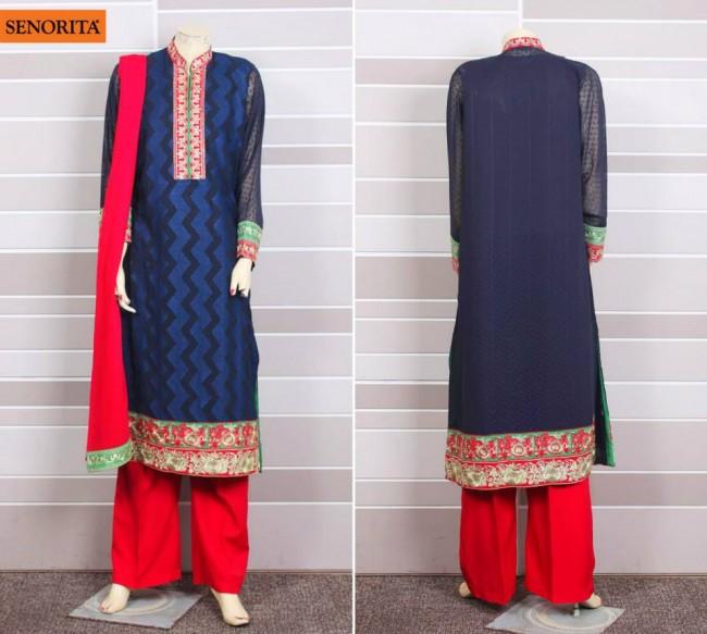 Senorita Summer Ready to Beautiful Girls Wear Shalwar Kameez New Fashion Suits-2