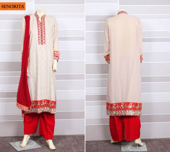 Senorita Summer Ready to Beautiful Girls Wear Shalwar Kameez New Fashion Suits-3