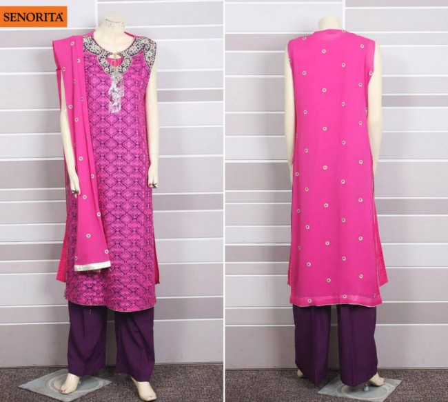 Senorita Summer Ready to Beautiful Girls Wear Shalwar Kameez New Fashion Suits-4