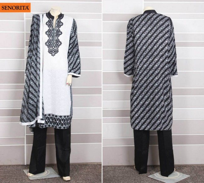 Senorita Summer Ready to Beautiful Girls Wear Shalwar Kameez New Fashion Suits-5