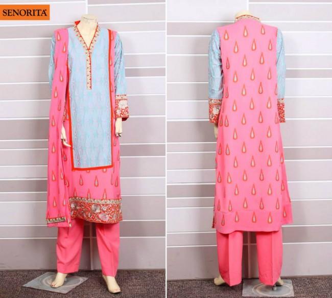 Senorita Summer Ready to Beautiful Girls Wear Shalwar Kameez New Fashion Suits-6