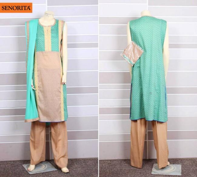 Senorita Summer Ready to Beautiful Girls Wear Shalwar Kameez New Fashion Suits-7