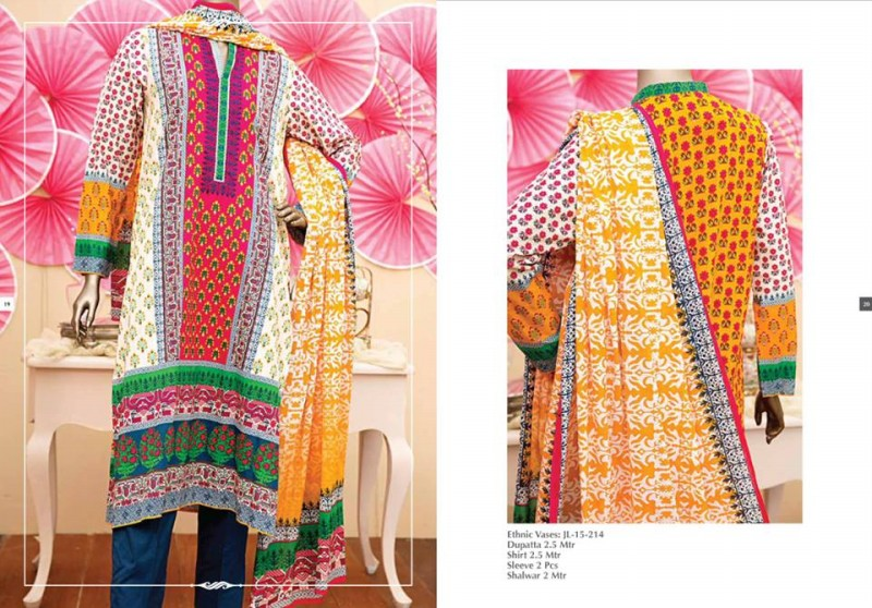 Junaid Jamshed Luminous Luxury Eid Wear Fancy Summer Dresses for Girls-Women-10