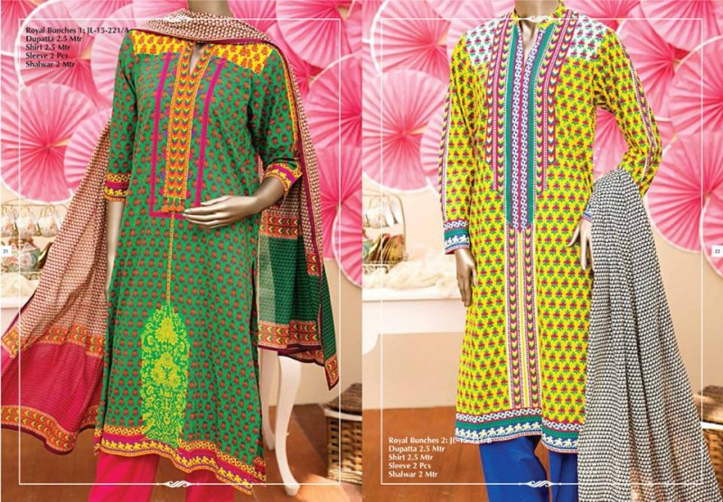 Junaid Jamshed Luminous Luxury Eid Wear Fancy Summer Dresses for Girls-Women-2