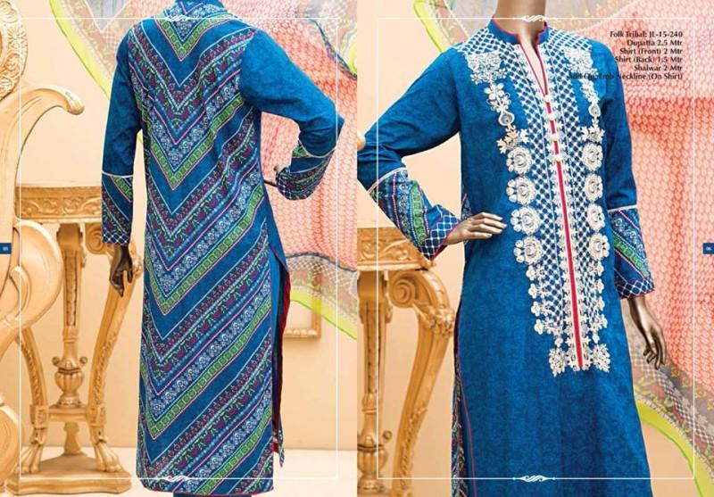 Junaid Jamshed Luminous Luxury Eid Wear Fancy Summer Dresses for Girls-Women-3