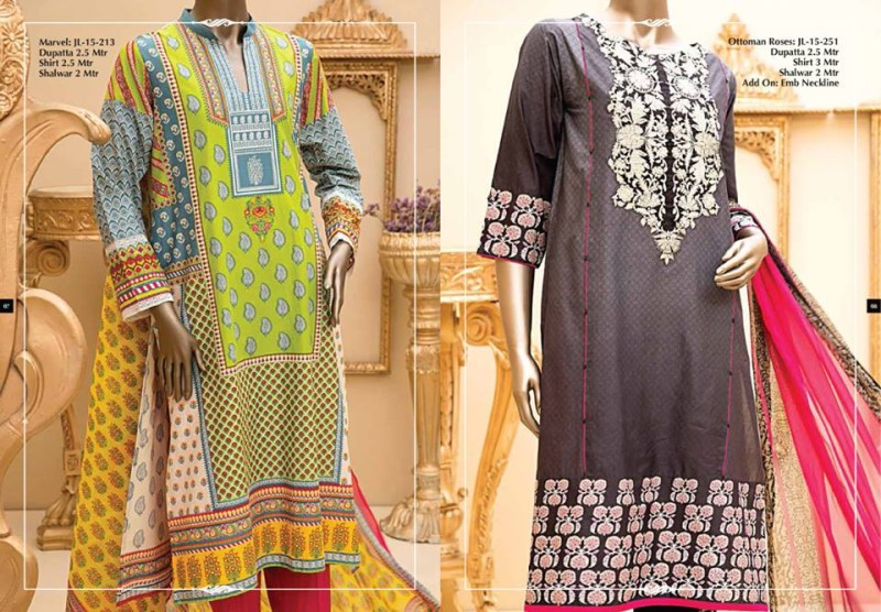 Junaid Jamshed Luminous Luxury Eid Wear Fancy Summer Dresses for Girls-Women-4