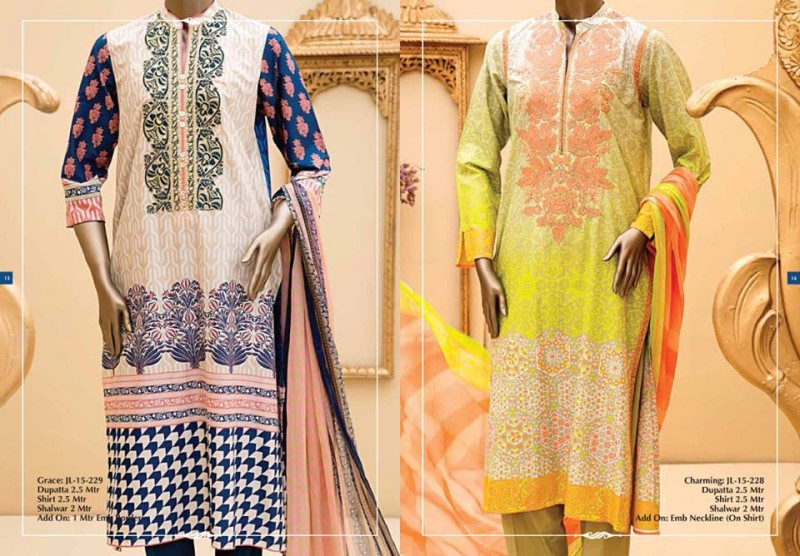 Junaid Jamshed Luminous Luxury Eid Wear Fancy Summer Dresses for Girls-Women-5