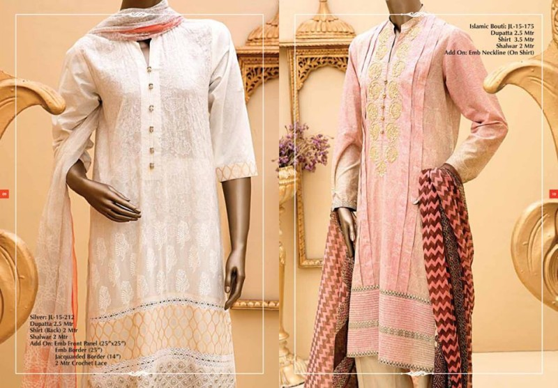 Junaid Jamshed Luminous Luxury Eid Wear Fancy Summer Dresses for Girls-Women-6