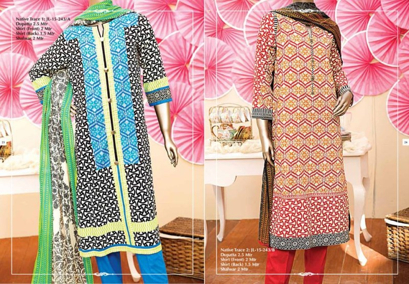 Junaid Jamshed Luminous Luxury Eid Wear Fancy Summer Dresses for Girls-Women-7