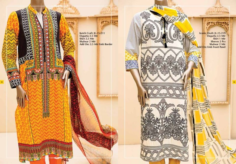 Junaid Jamshed Luminous Luxury Eid Wear Fancy Summer Dresses for Girls-Women-8