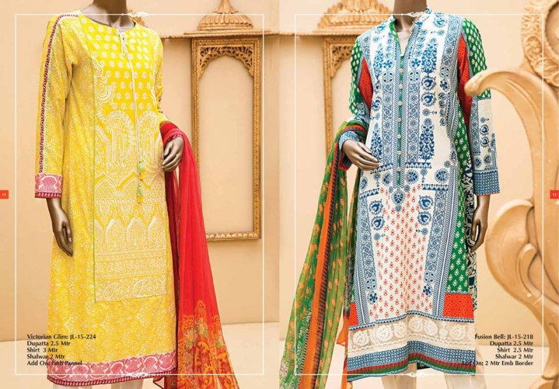 Junaid Jamshed Luminous Luxury Eid Wear Fancy Summer Dresses for Girls-Women-9