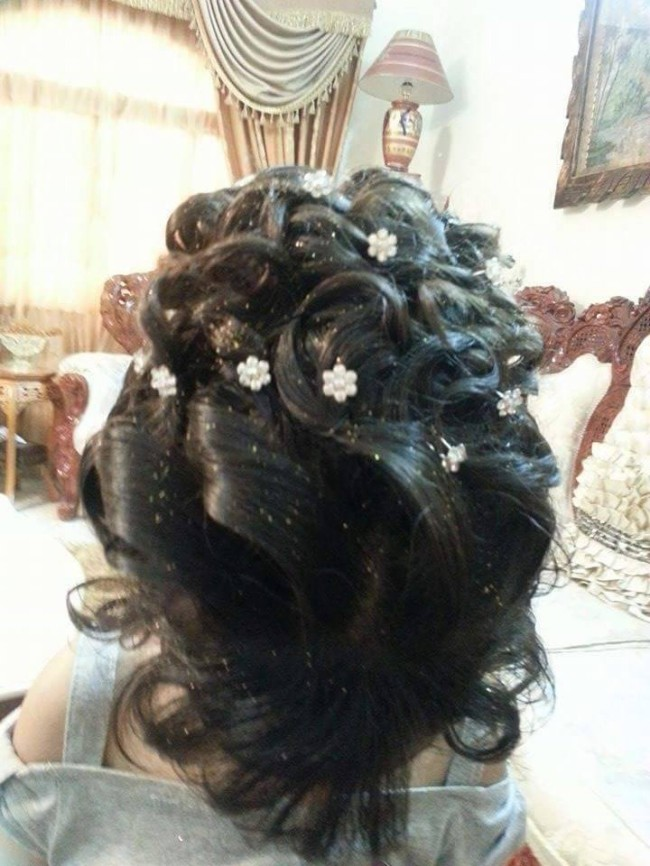 Latest Wedding-Bridal Hairstyle Best for Long-Short Curly Hair Cuts-2