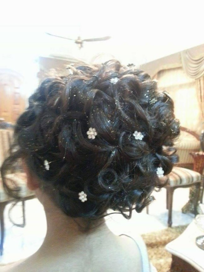 Latest Wedding-Bridal Hairstyle Best for Long-Short Curly Hair Cuts-3